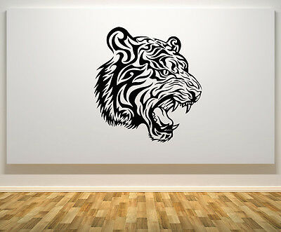 Big Cat Tiger Wild Animal Lioness Wall Art Decal Sticker Picture Poster