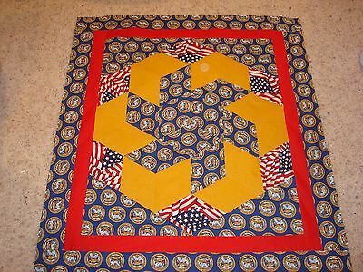 US ARMY QUILT TOP - Tumbling Block Quilt Top