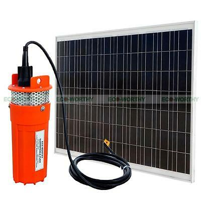 Solar Pump Kits:180W Solar Panel & 24V Deep Well Water Pump for Pool Pond