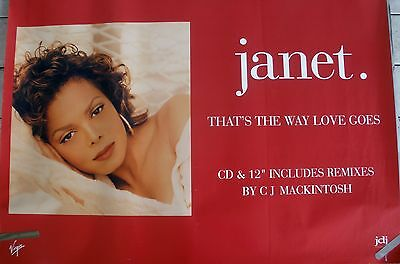 Janet Jackson The Way Love Goes 1993 Vintage Music Record Store Promo Poster