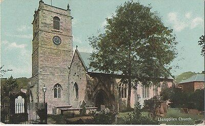 POSTCARD  LLANGOLLEN  Church