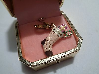 retired LE 2008 Juicy Couture scottie  yorkie Christmas stocking charm mint box