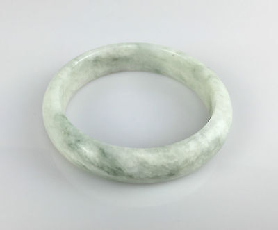 Bracelet Jonc 62mm Jade Jadéite Blanc Bangle Naturel Chinois 6,20cm JONC J33