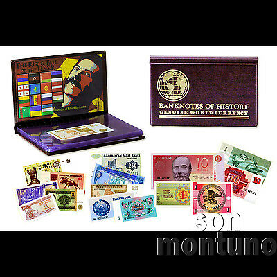 RISE & FALL OF THE USSR - 15 Banknote Collection in Case - RUSSIA Soviet Union
