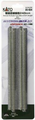 """Kato 20-004 248mm (9 3/4"""") Straight Track WS248PC N scale"""