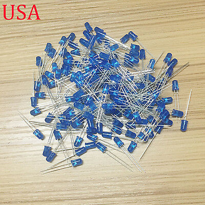200Pcs LED DIFFUSED F5 5MM BLUE COLOR BLUE LIGHT Super Bright Bulb Lamp L4