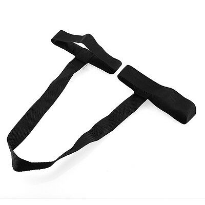 Hot Universal Durable Black Yoga Pilates Mat Looped Sling Harness Carrier Strap