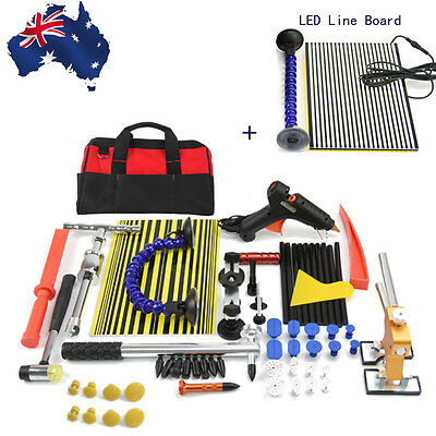 LED Line Board PDR Dent Lifter Tools Repair Hammer Paintless Hail Removal Kit
