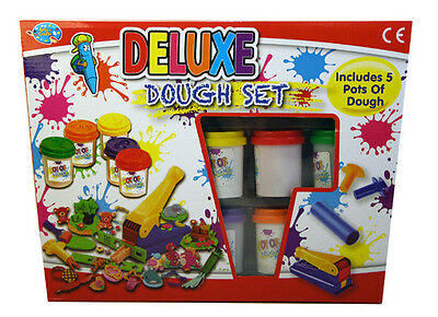 Kids Deluxe Dough Play Set - 20 items 5 dough pots - Playdoh - NEW