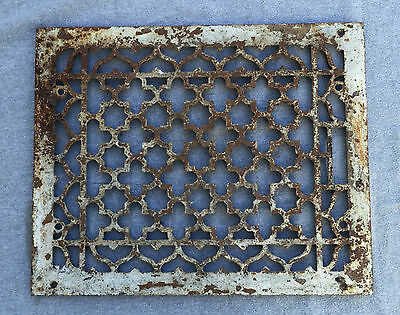 Antique Cold Air Return Heat Grate Gothic Star Vent Old Vintage 12x15 1349-16