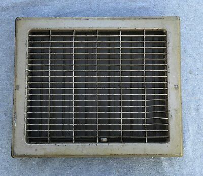 Vintage Stamped Steel Floor Heat Grate Ceiling Vent Old Hardware 10x12 1350-16