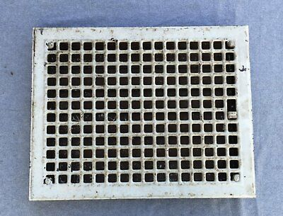 Vintage Stamped Steel Floor Heat Grate Ceiling Vent Old Hardware 12x16 1353-16