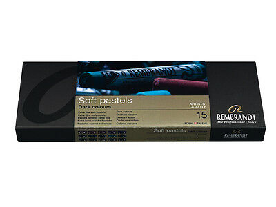 Rembrandt Soft Artists Pastels Set Of 15 Full Lenght -  Dark Colours