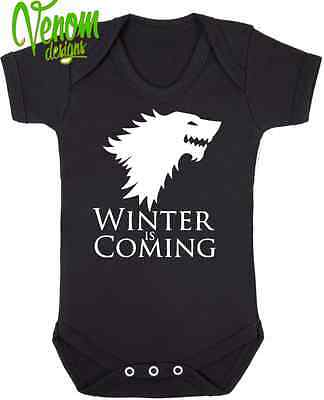 Winter Is Coming GAME OF THRONES BABY BODYSUIT GROW VEST GIRL BOY CLOTHES GIFT