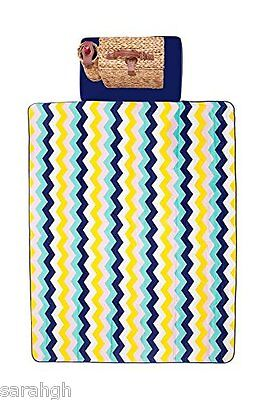 Sunnylife Picnic Blanket - Folds into Zipped Carry Case - Waterproof backing New