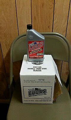 Lucas 20W50 Synthetic Motorcycle Oil (6 Pack)