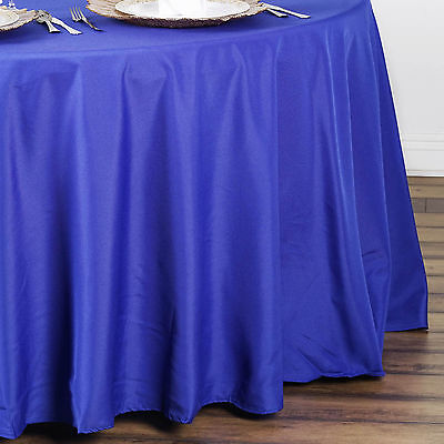 "6 pcs Royal Blue 90"" ROUND POLYESTER TABLECLOTHS Trade Show Booth Decorations"