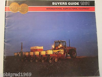 1981 International Equipment Tractor Buyers Guide Brochure Catalog More Listed