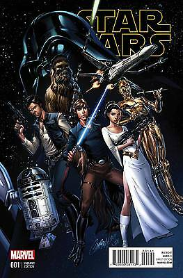 Star Wars #1 J.s. Campbell Connecting Variant A Cover 1:50 Marvel Comics 2015