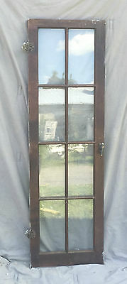 Antique 8 Lite Casement Cupboard Window Cabinet Bookcase Shabby Vtg Old 1363-16