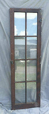Antique 8 Lite Casement Cupboard Window Cabinet Bookcase Shabby Vtg Old 1365-16