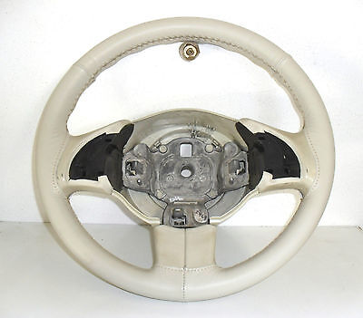 Fiat 500 New Cover Steering Wheel Genuine Leather E Stitching Ivory