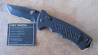 Gerber Dmf Manual Tanto Blade Black Plungelock G-10 Handle New No Box