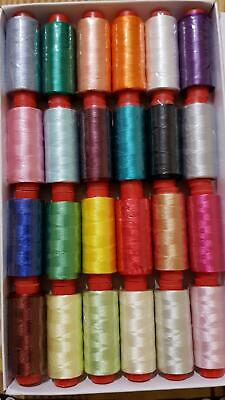 20 spools of sewing machine silk art embroidery threads