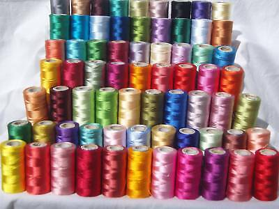 50 Spools of Sewing Machine Silk Art Embroidery Threads, Good Quality & Price
