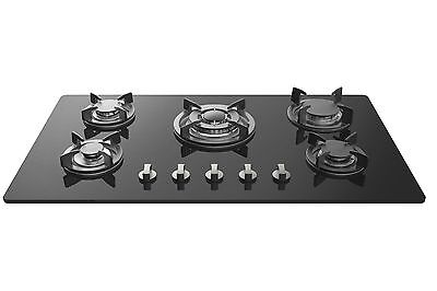 "Empava 34"" Tempered Glass Built-in 5 Burners Gas Cooktop Gas Stove Hob"