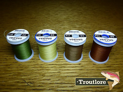 4 x SPOOLS 6/0 VEEVUS THREAD #2 - NEW FLY TYING SUPPLIES & MATERIALS