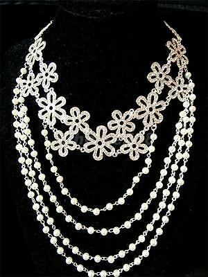 Wedding Crystal Silver Shoulder Chian Bridal Shoulder Necklace Body Jewelry