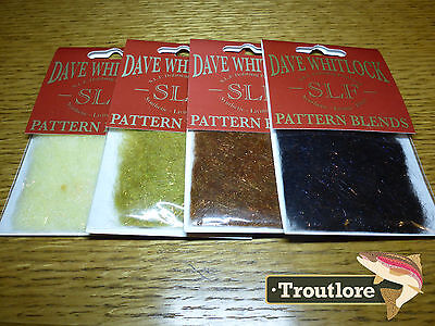 4 Pack Slf Dave Whitlock Dubbing Stonefly Combo - New Fly Tying Dub Material