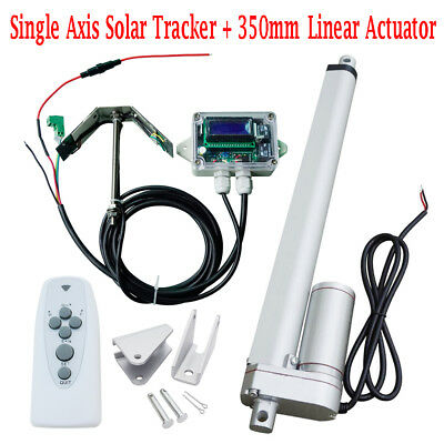 14''12V Linear Actuator Heavy Duty Electric Motor & Controller Solar Tracker Kit