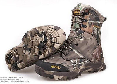 Outdoor Winter Men Bionic Leaves Camouflage Hunting Boots Warm Tactical Boots