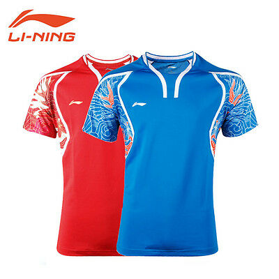 2016 Rio Olympics Li Ning men's Tops tennis clothing Badminton T-shirt