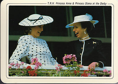 T.R.H. Princess Anne & Princess Diana at the Derby
