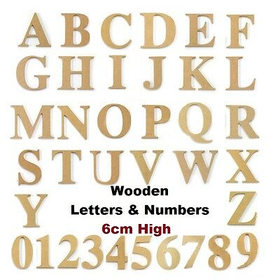 Kaisercraft Wood Wooden Letter Uppercase Alphabet Number Words Names Craft 6cm