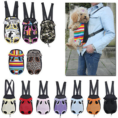 Nylon Pet Puppy Dog Cat Backpack Front Tote Travel Carrier Pet Net Bag S/M/L/XL