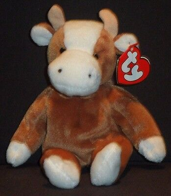 TY BESSIE THE COW BEANIE BABY - 3RD GEN HANG TAG - MINT with MINT ... 3de13f10f6c
