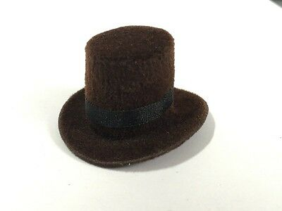 Dark Brown Heidi Ott Top Hat, Doll House Miniature, Hat.