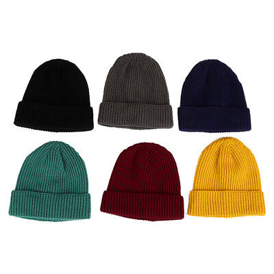 Mens Women Slouch Baggy Oversized Winter Warm Ski Rib Knit Beanie Hat Cap Skull