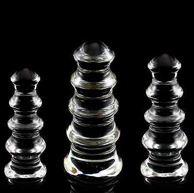 *** Large Pagoda Glass Toy Dildo_Anal Beads_Butt Plug Fast Shipping Adult  ***