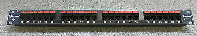 Siemon HD6-24 HD6 Series 24 Port Cat6 RJ45 Black 1U Network Patch Panel