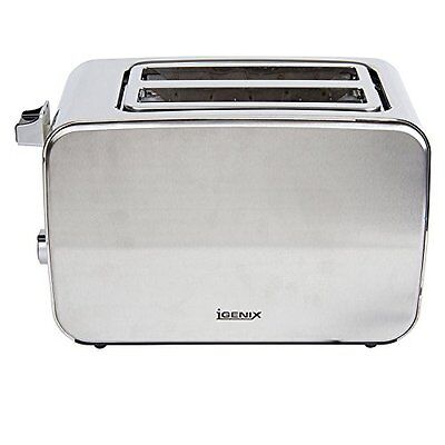 Igenix IG3202 2-Slice Polished and Brushed Stainless Steel Toaster- NEW!