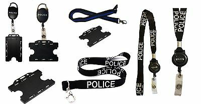 Police High Quality Lanyards / Badge Reels Ideal For Mobile Id Keys Badge / Card