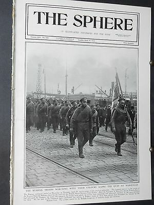 1916 The SPHERE- Russian Army,ANZAC,Capture Trebizond Armenia,King of Greece