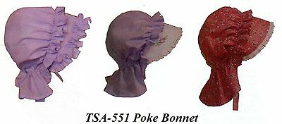 Civil War Style POKE BONNET Pattern Timeless Stitches TSA-551
