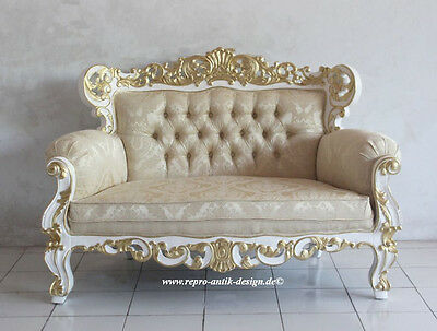 kanapee barock sofa louis xv mahagoni massivholz barocksofa couch nostalgie eur 899 00. Black Bedroom Furniture Sets. Home Design Ideas