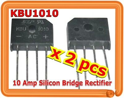 Single Phase 10A 1000V KBU1010 Diode Bridge Rectifiers 4pin KBU-1010 x (2 PCS)